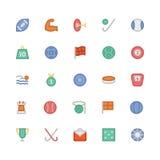 Icônes 4 de vecteur colorées par sports Photos stock