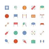 Icônes 5 de vecteur colorées par sports Images stock