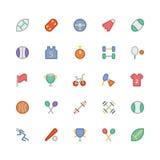 Icônes 1 de vecteur colorées par sports Images stock