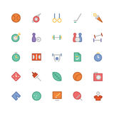 Icônes 6 de vecteur colorées par sports Photos libres de droits