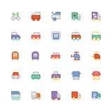 Icônes 6 de vecteur colorées par transport Photographie stock