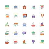Icônes 3 de vecteur colorées par transport Photographie stock libre de droits