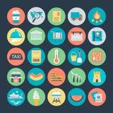 Icônes 4 de vecteur colorées par voyage illustration libre de droits