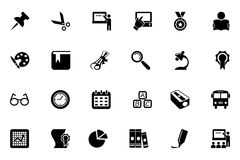 Icônes 2 de vecteur d'école et d'éducation Image stock