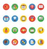 Icônes 4 de vecteur d'éducation Image stock