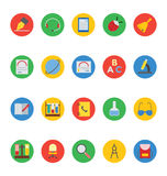 Icônes 6 de vecteur d'éducation Images stock