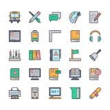 Icônes 3 de vecteur d'éducation Images stock