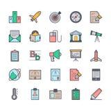 Icônes 5 de vecteur d'éducation Photos stock