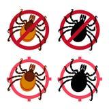 Icônes de vecteur d'acarides réglées Photo libre de droits
