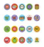 Icônes 5 de vecteur d'achats illustration de vecteur