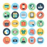 Icônes 1 de vecteur d'achats et de commerce électronique illustration de vecteur