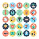 Icônes 3 de vecteur d'achats et de commerce électronique illustration de vecteur