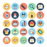 Icônes 4 de vecteur d'achats et de commerce électronique illustration stock