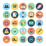 Icônes 2 de vecteur d'achats et de commerce électronique illustration stock