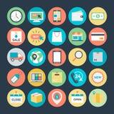 Icônes 1 de vecteur d'achats et de commerce illustration libre de droits