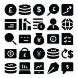 Icônes 7 de vecteur d'affaires illustration stock