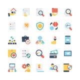 Icônes 12 de vecteur d'affaires Photos stock
