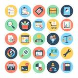Icônes 4 de vecteur d'affaires et de finances illustration stock