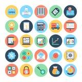 Icônes 3 de vecteur d'affaires et de finances illustration libre de droits