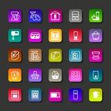 Icônes de vecteur d'aplliance de cuisine Images libres de droits