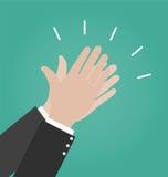 Icônes de vecteur d'applaudissement de mains, icône d'applaudissements Image stock