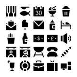 Icônes 4 de vecteur d'hôtel et de restaurant Image libre de droits