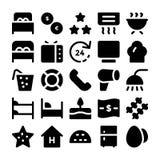 Icônes 13 de vecteur d'hôtel et de restaurant Photographie stock