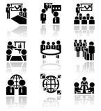 Icônes de vecteur d'homme d'affaires réglées. ENV 10 Images stock