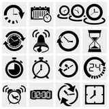Icônes de vecteur d'horloge Illustration Stock