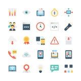 Icônes 5 de vecteur d'Internet Images stock