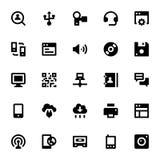 Icônes 3 de vecteur d'Internet, de mise en réseau et de communication Photos libres de droits