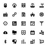 Icônes 5 de vecteur d'Internet, de mise en réseau et de communication Photos libres de droits