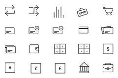 Icônes 11 de vecteur d'IOS et d'Android Image libre de droits