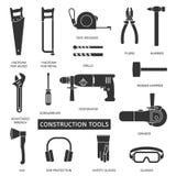 Icônes de vecteur d'outils de construction réglées illustration libre de droits