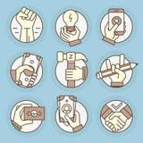 icônes de vecteur dans le style linéaire moderne Photo stock