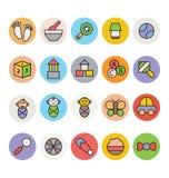 Icônes 6 de vecteur de bébé illustration de vecteur