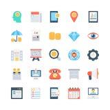 Icônes 3 de vecteur de banques et de finances Images libres de droits