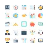 Icônes 1 de vecteur de banques et de finances Image stock