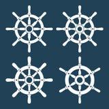 Icônes de vecteur de barre de bateau réglées Image libre de droits
