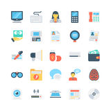 Icônes 6 de vecteur de bureau et de papeterie Photographie stock libre de droits