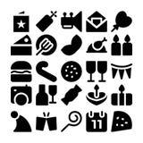 Icônes 9 de vecteur de célébration et de partie Image stock