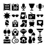Icônes 6 de vecteur de célébration et de partie Images libres de droits