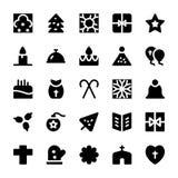 Icônes 8 de vecteur de célébration et de partie Photos libres de droits