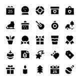 Icônes 5 de vecteur de célébration et de partie Photographie stock libre de droits