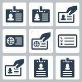 Icônes de vecteur de carte d'identification illustration libre de droits