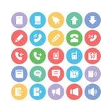 Icônes 1 de vecteur de communication Photos libres de droits
