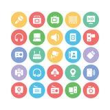 Icônes 10 de vecteur de communication Image stock