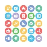 Icônes 12 de vecteur de communication Photographie stock libre de droits