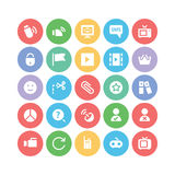 Icônes 7 de vecteur de communication Photos libres de droits