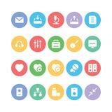 Icônes 13 de vecteur de communication Photos libres de droits